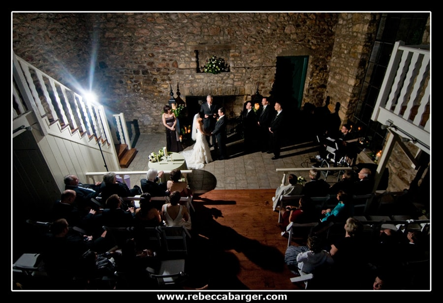 Holly Hedge Estate offers a wonderful indoor ceremony site in the beautiful