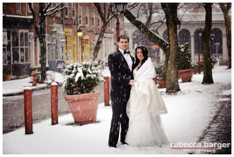 Meghan + Carmen married in the midst of a  spring snowstorm!