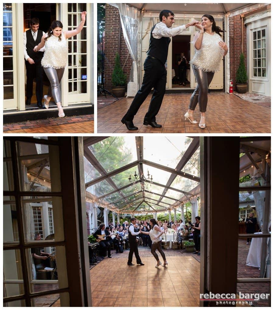 Woo Hoo, a great big surprise Salsa dance as a first dance at Morris House Hotel.