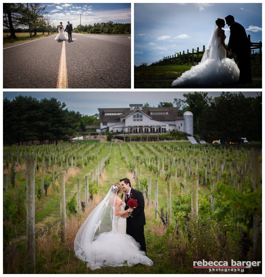 Lovely shot of Alii and Dave in the vineyard with Laurita Winery in the background.