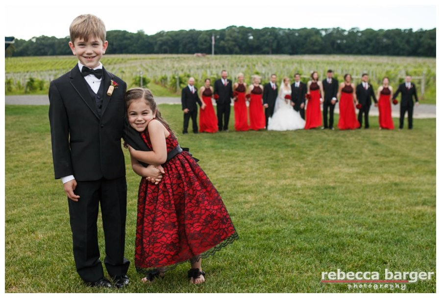 The ring bearer and flower girl, so sweet!!