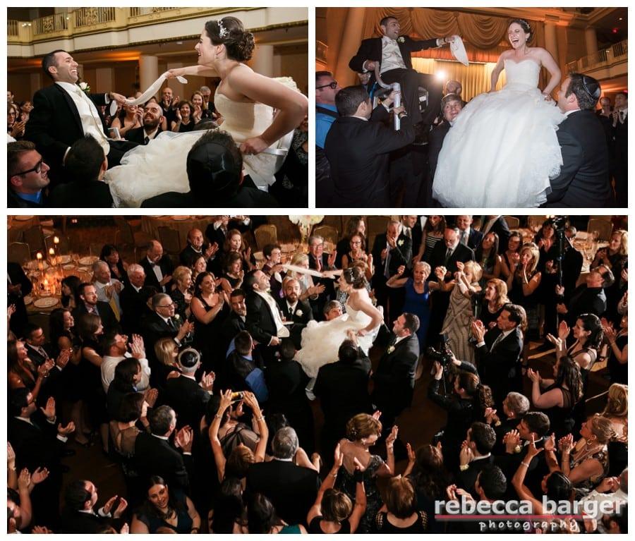 Rachel and Stuart dance their hora, entertainment by EBE Barcelona.