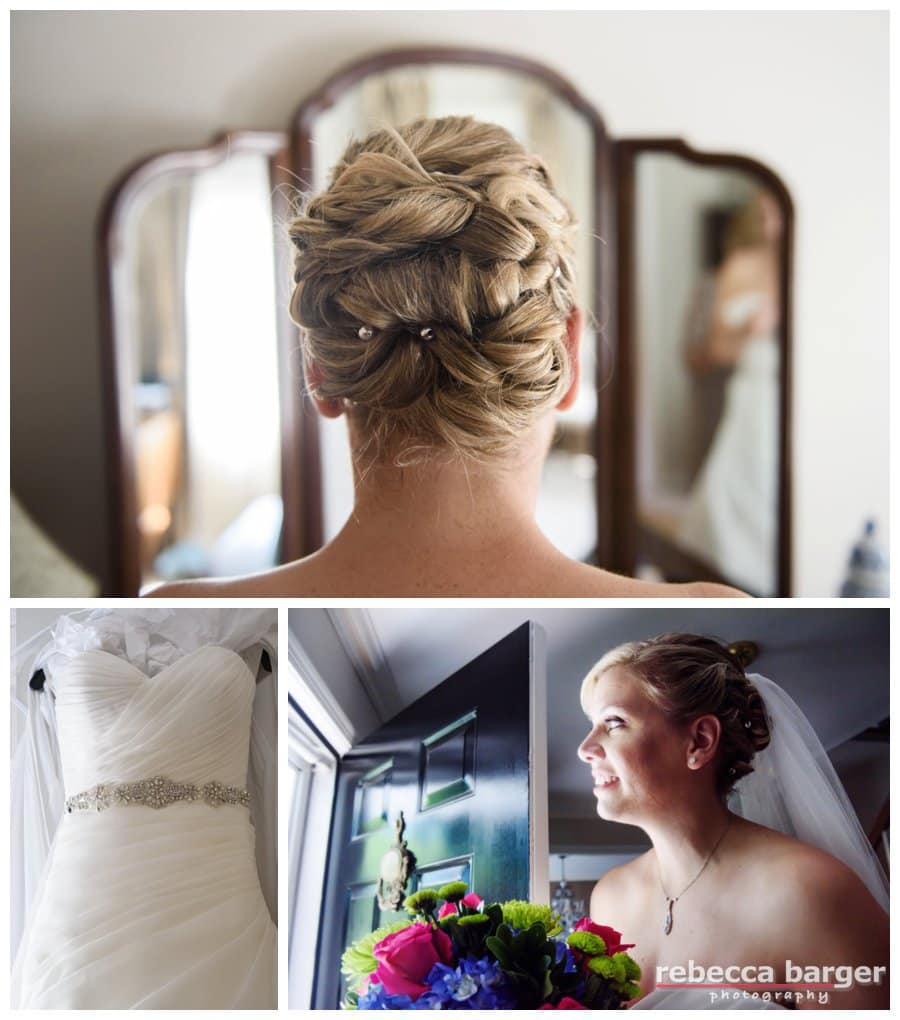 Lyndsay's hair was a work of art, gorgeous gown from Macy's, NYC.