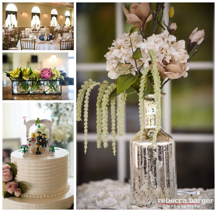 Lovely decor by Janet's Weddings at Mercer Oak's Golf Club in Princeton Junction.