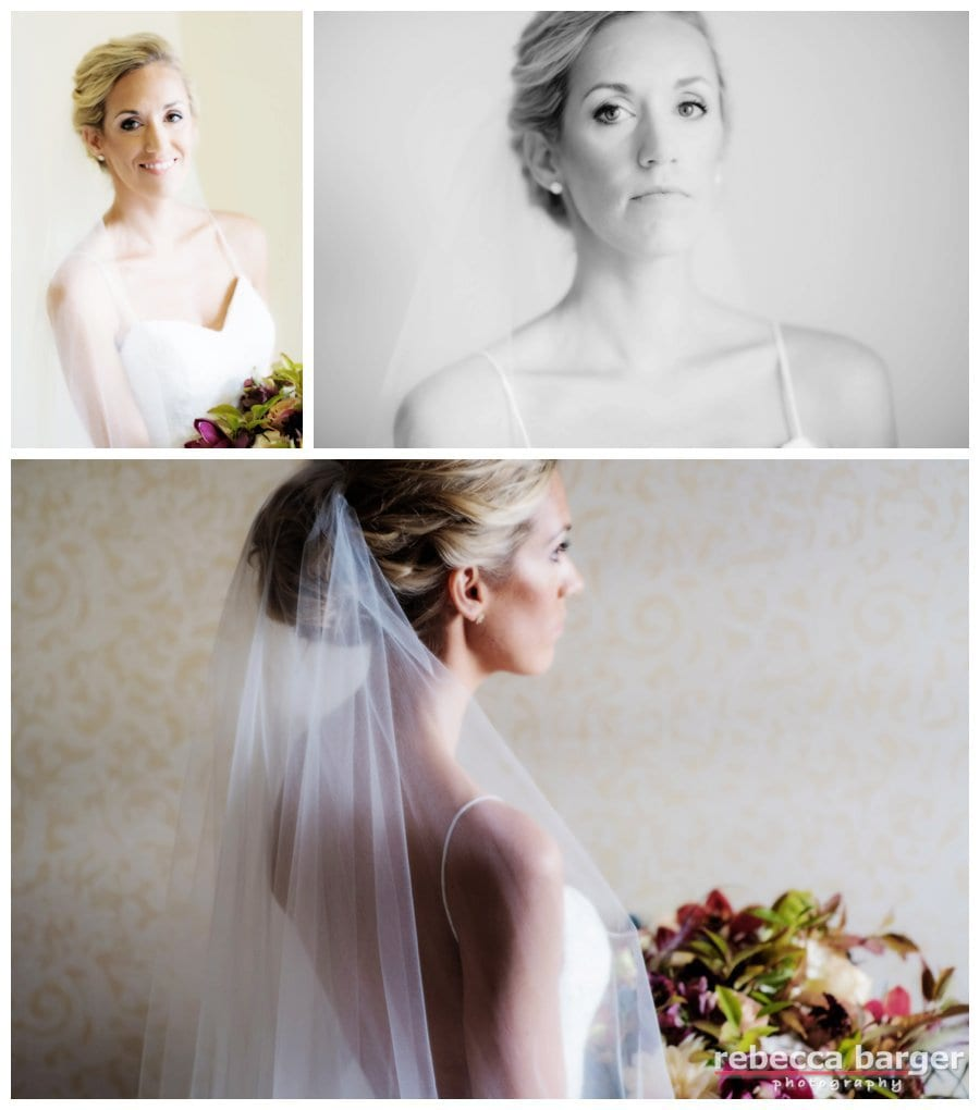 Gorgeous wedding day hair by Up Your Do, cosmetics by Cheekadee and bridal bouquet by Sullivan Owen.