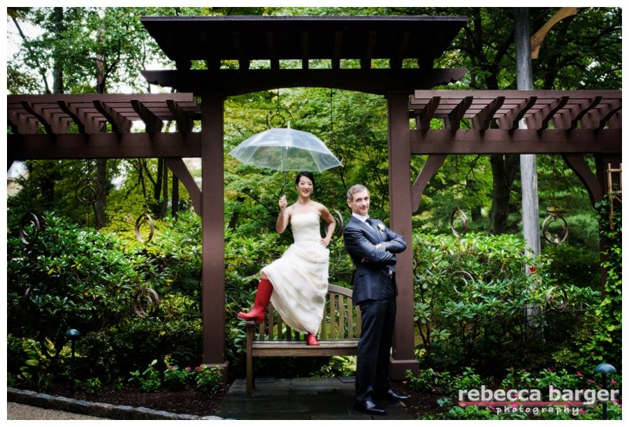 Karen + Jim married at beautiful Pomme.  Sometimes a little bit of rain can be quite a lovely thing! Wedding coordination and decor by Proud to Plan.