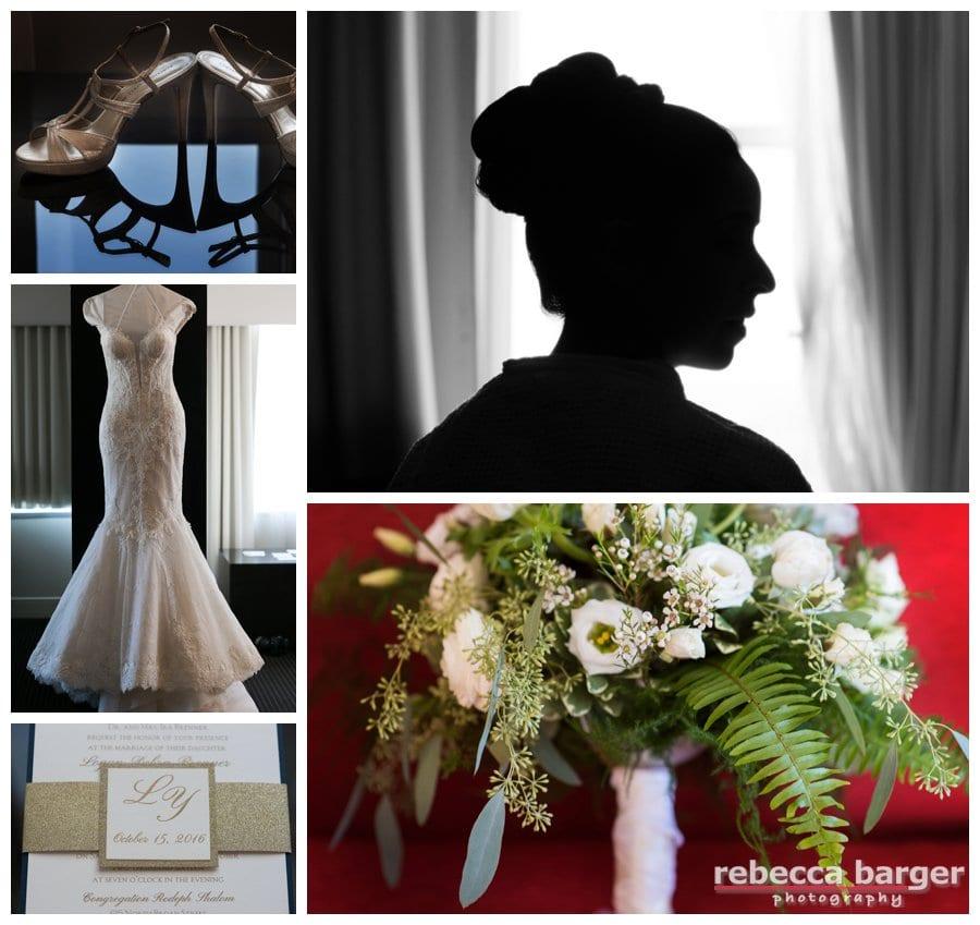Wedding day preparations at Loew's, Philadelphia.