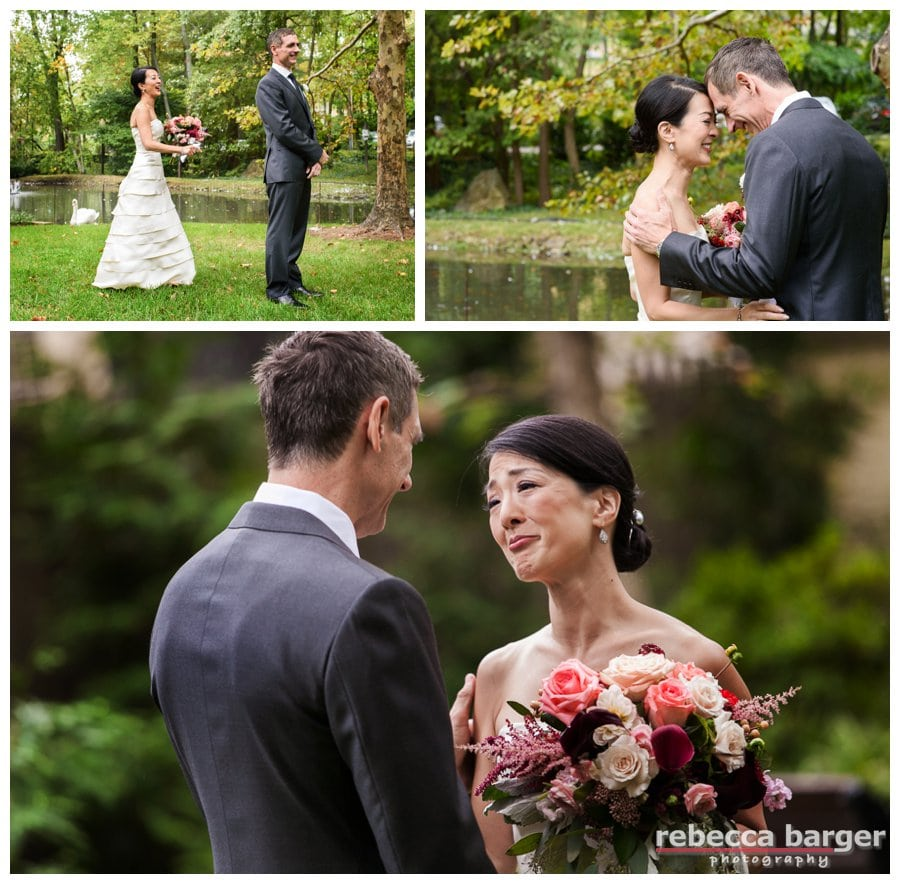 First Look for Karen and Jim in the garden at Pomme.