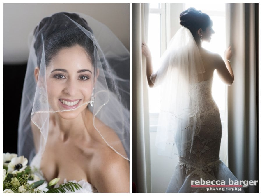 Logan's wedding day hair and makeup by Beautiful Bride's Philly, gown by Prina Tornai.