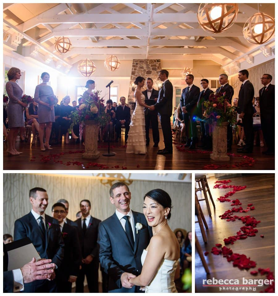 Wedding ceremony at Pomme, officiated by Andy Mahaney, The Wedding Planner.