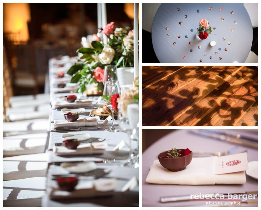 Varied table sizes  add to the lovely decor at Pomme, a Peachtree and Ward venue.