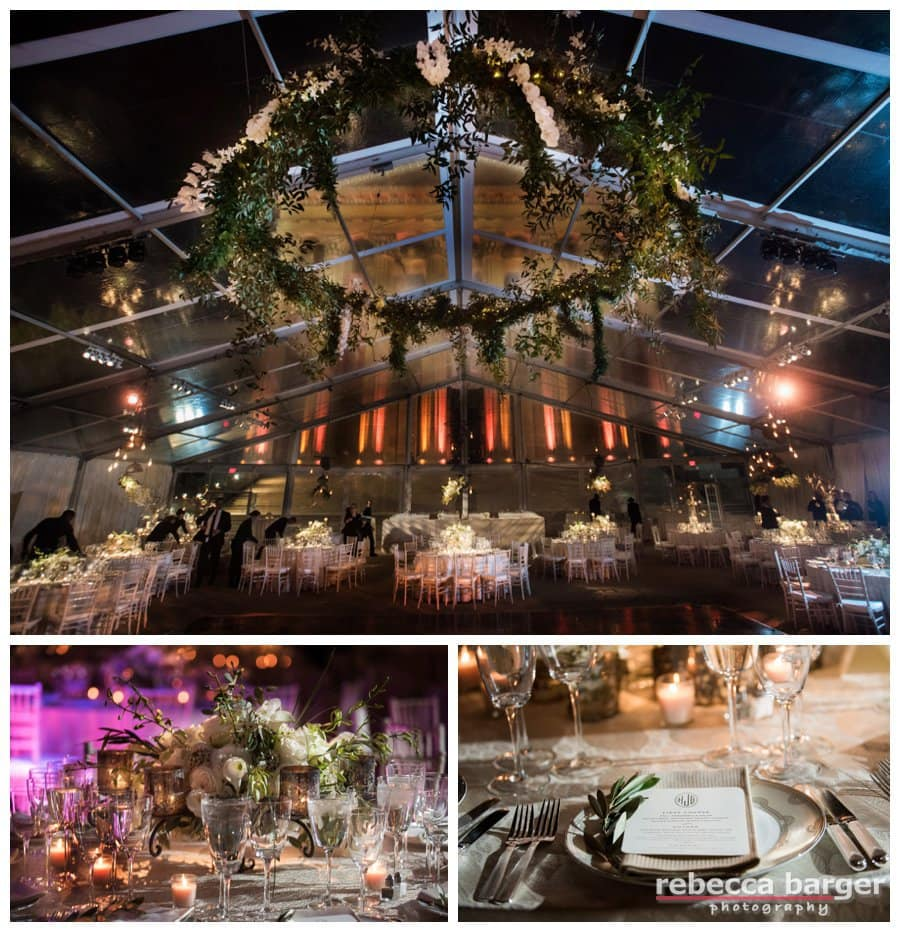 Glass tent decor by Table Art, Stephen Starr Events, Rebecca Barger Photography, Phila.