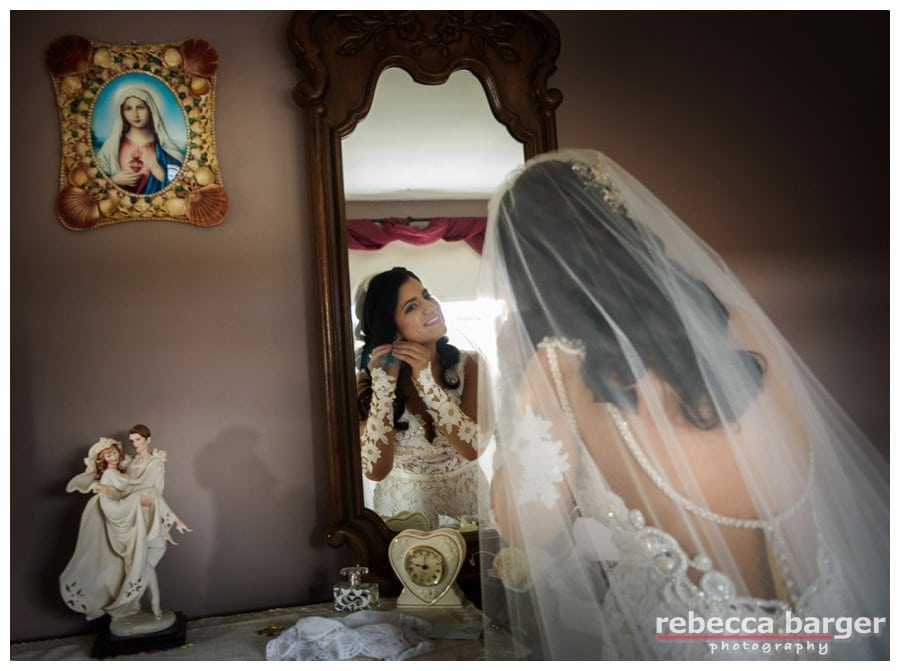 Love this photo of Adriana dressing in her parents bedroom.