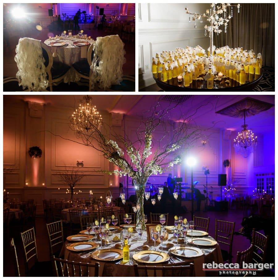 Cescaphe Ballroom's lighting by Beautiful Blooms.
