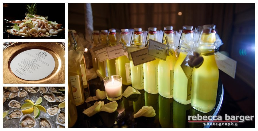 The couple made their own limoncello and each guest received a bottle as a gift!
