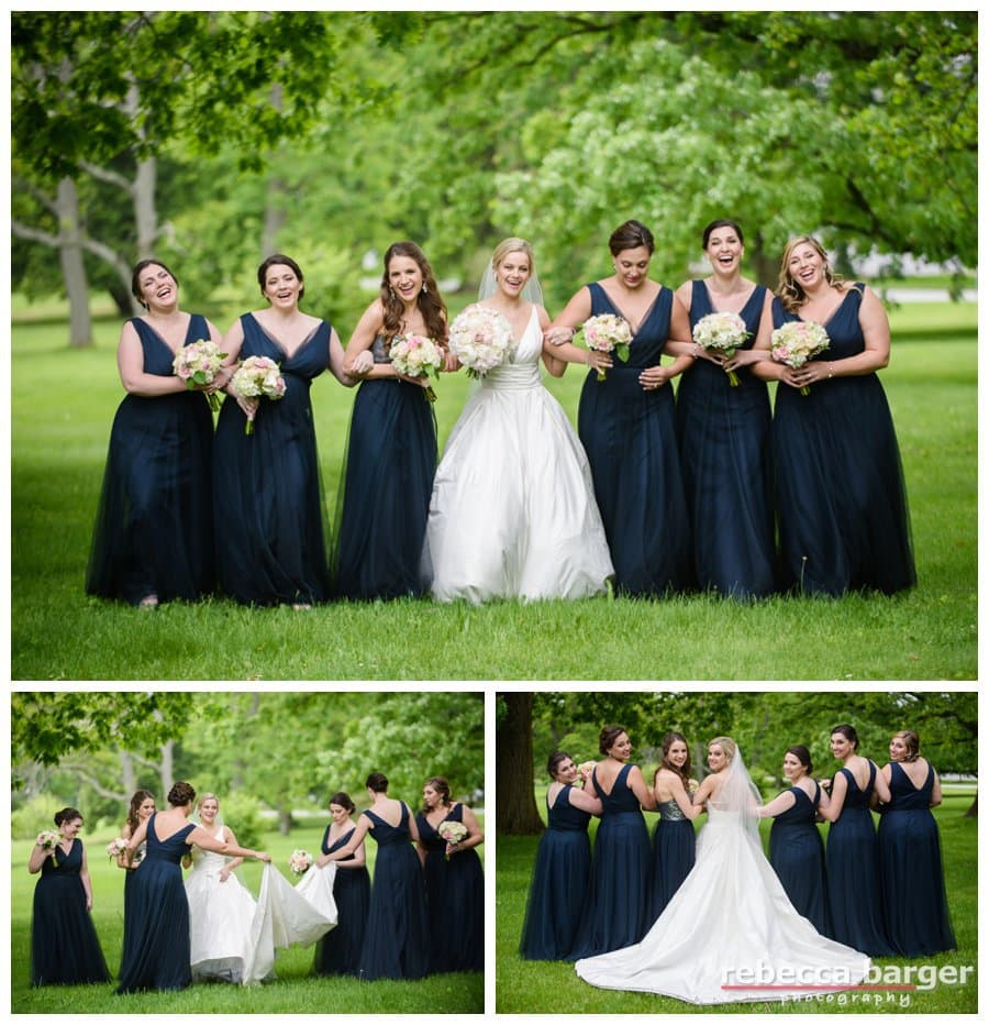 Stephanie and her bridesmaids at  the Ballroom at Ellis Presere.