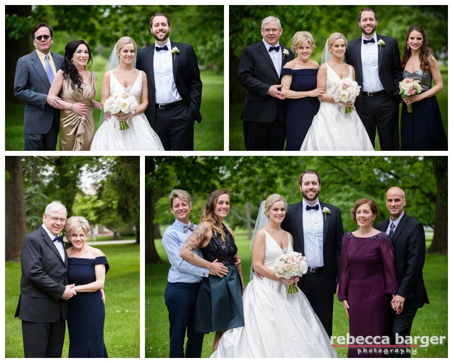 Stephanie and Michael's families.
