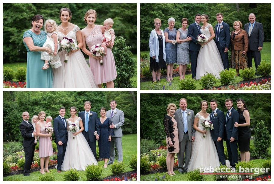 A few family shots from Becca + Dave's wedding at Hotel du Village.