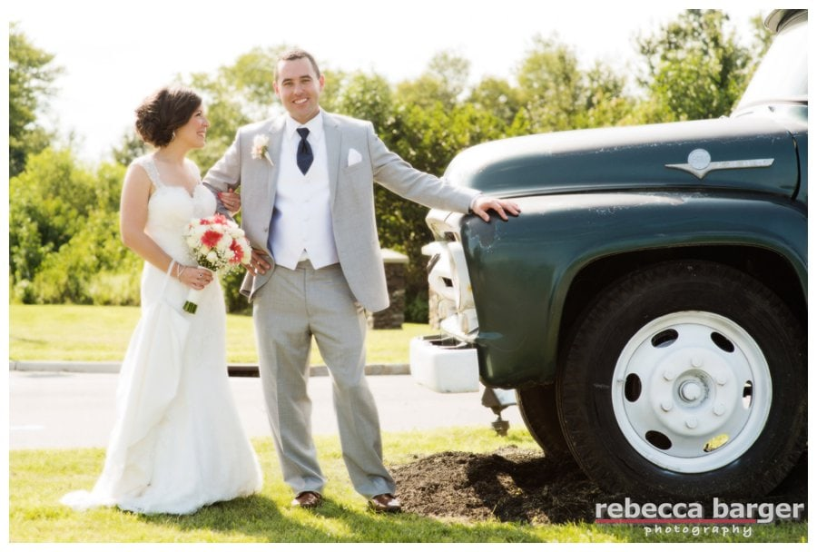 Nothing beats a handsome groom and a vintage truck!