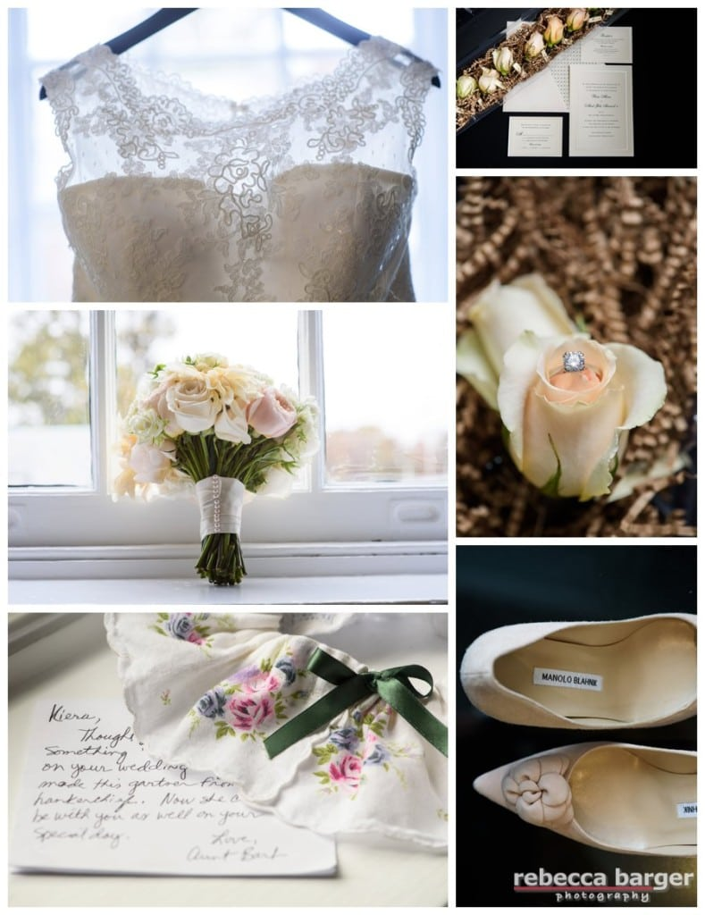 Kiera's wedding details, Carl Alan Flowers, Manolo's, and of course, family heirlooms.