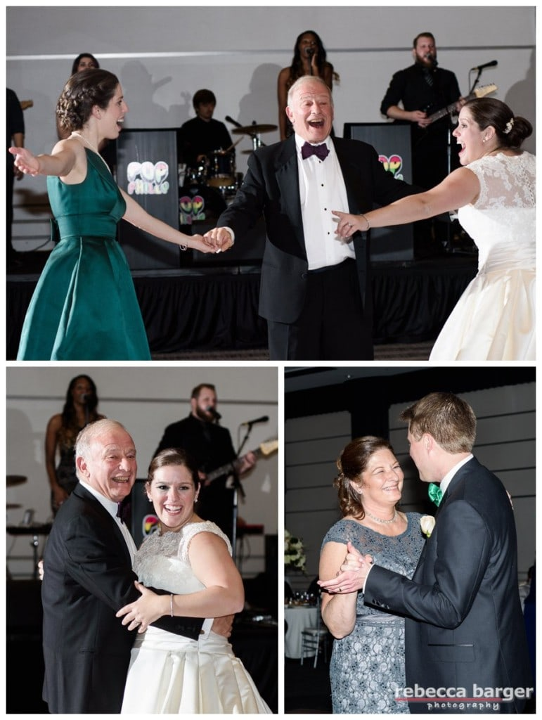 Parent dances.