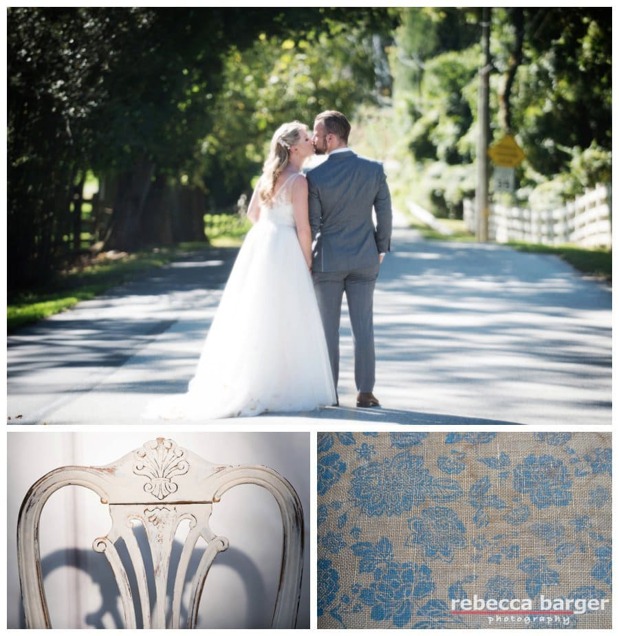 Vintage wedding touches and a country road kiss at The Anthony Wayne House, Paoli