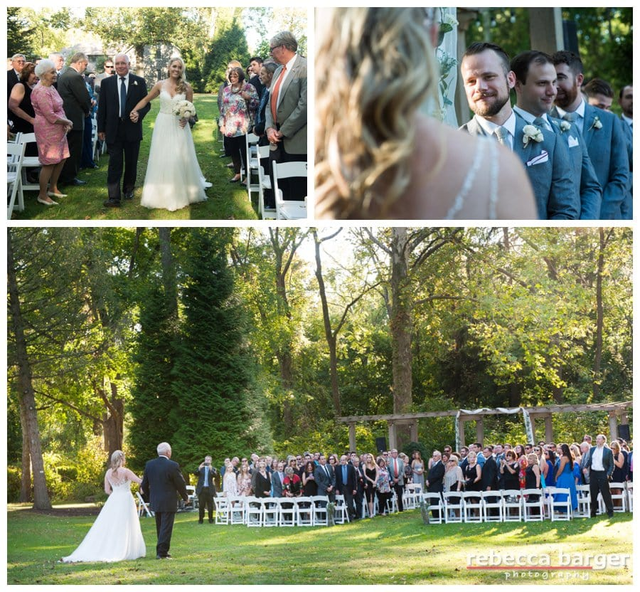Such a pretty entrance, escorted by her father. Anthony Wayne House.