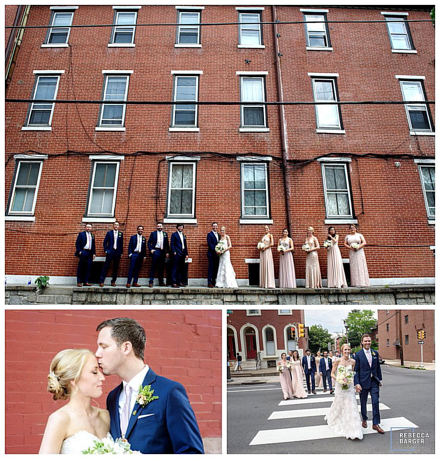 Bridal Party photos in Fairmount, Philly.