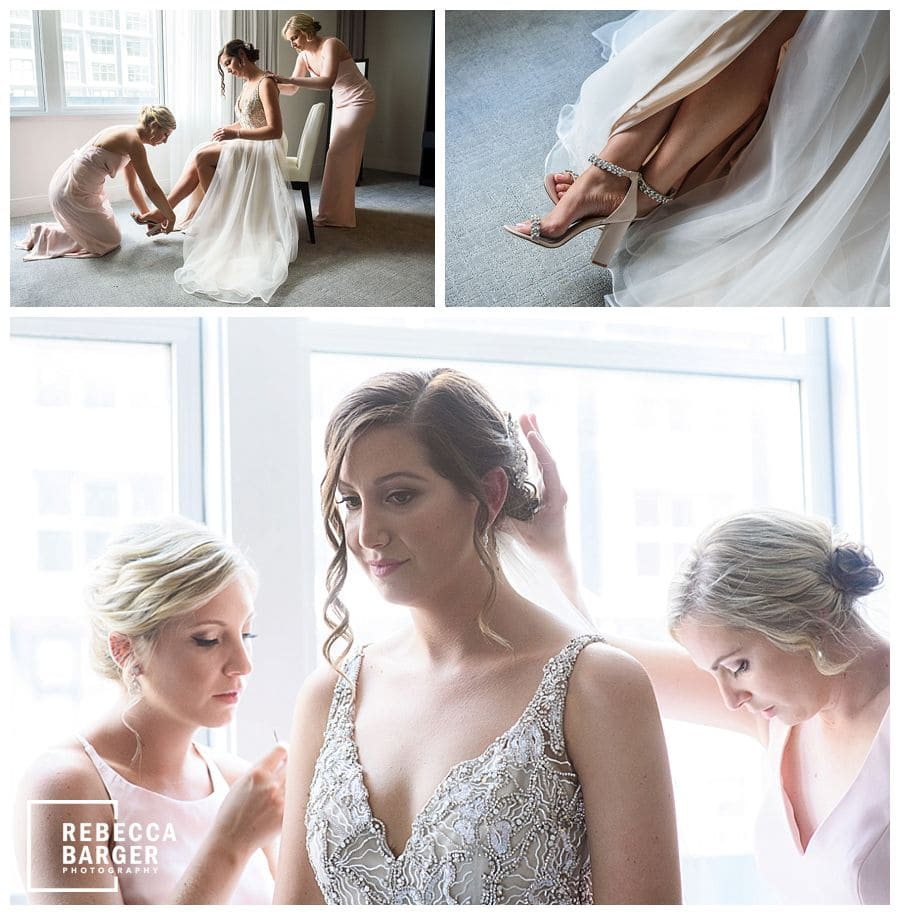 real wedding Hayley Paige philly bridal preparations