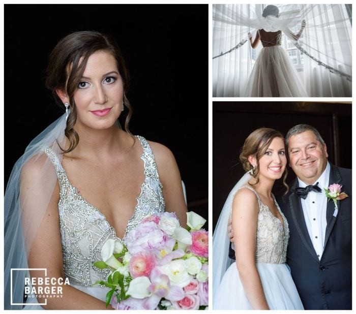 father of bride Hayley Paige gown