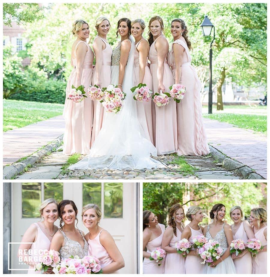 vera wang real wedding bridesmaids philly