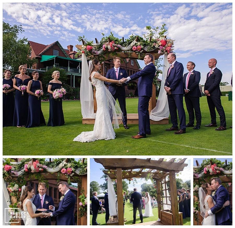 Merion Cricket Club outdoor wedding ceremony