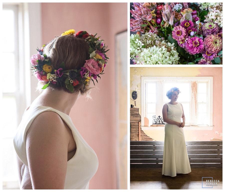 autumn flower bridal crown Phila