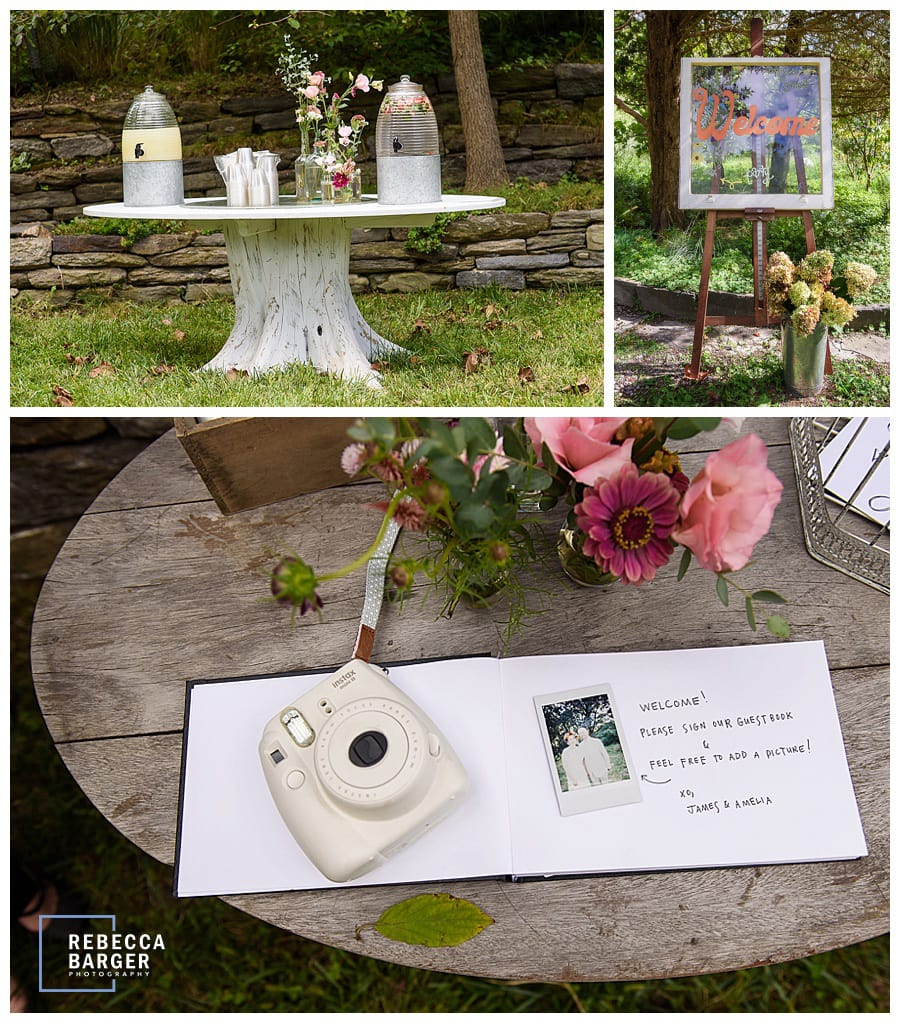 handmade wedding tables