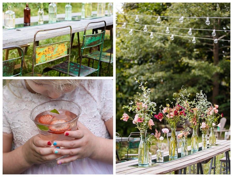 DIY wildflower wedding