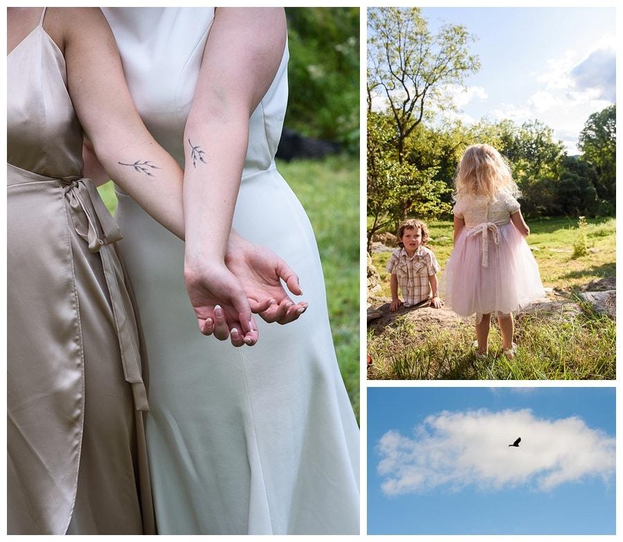 sister tattoos wedding