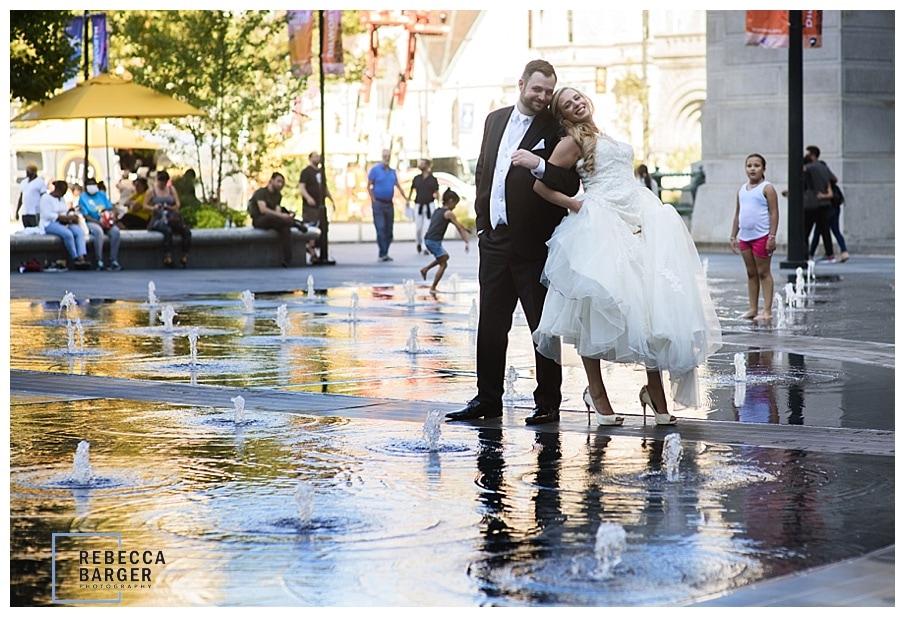 Dilworth Park plaza wedding
