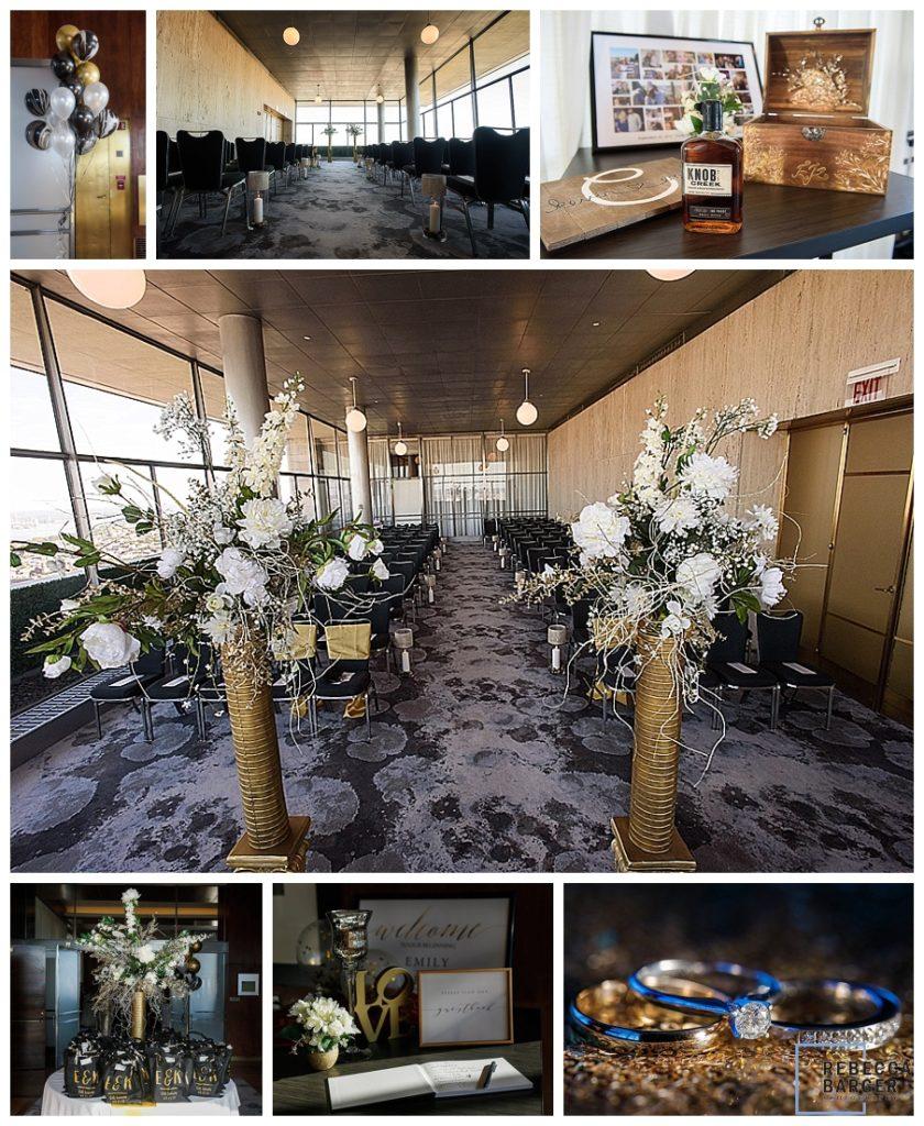 terrace of Loews hotel decorated wedding